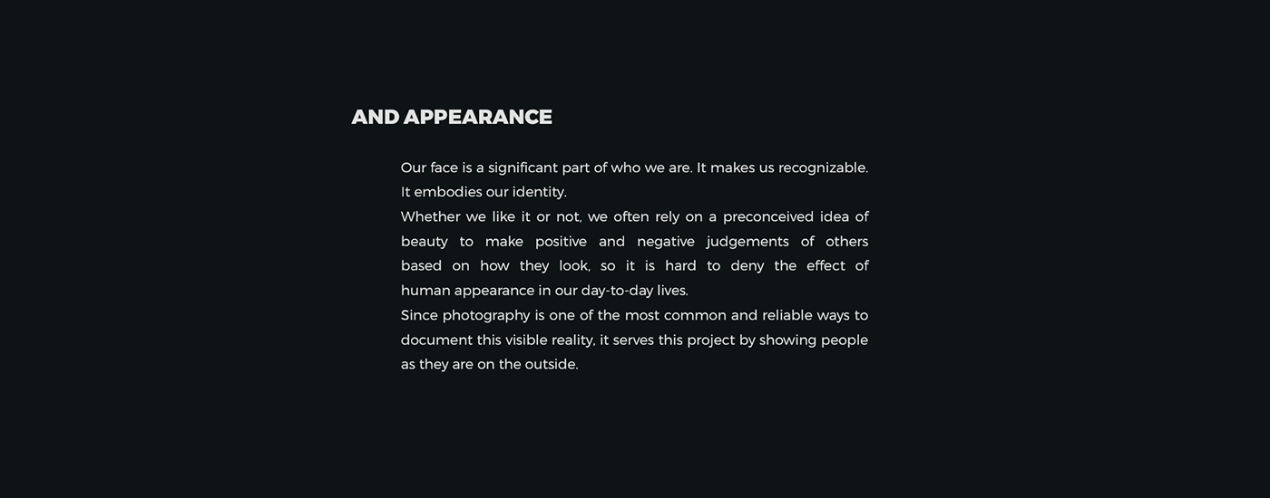 portrait Portraiture faces double exposure multiple exposure appearance personality thesis lenticular interactive