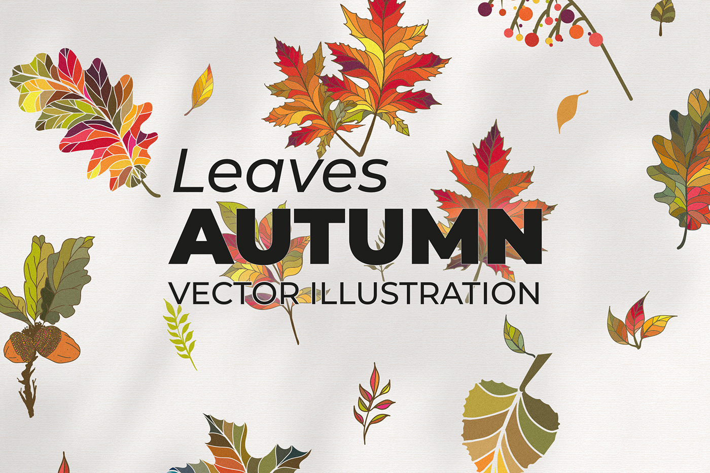 artwork autumn autumn leaves colorful Digital Art  Drawing  Fall forest ILLUSTRATION  vector