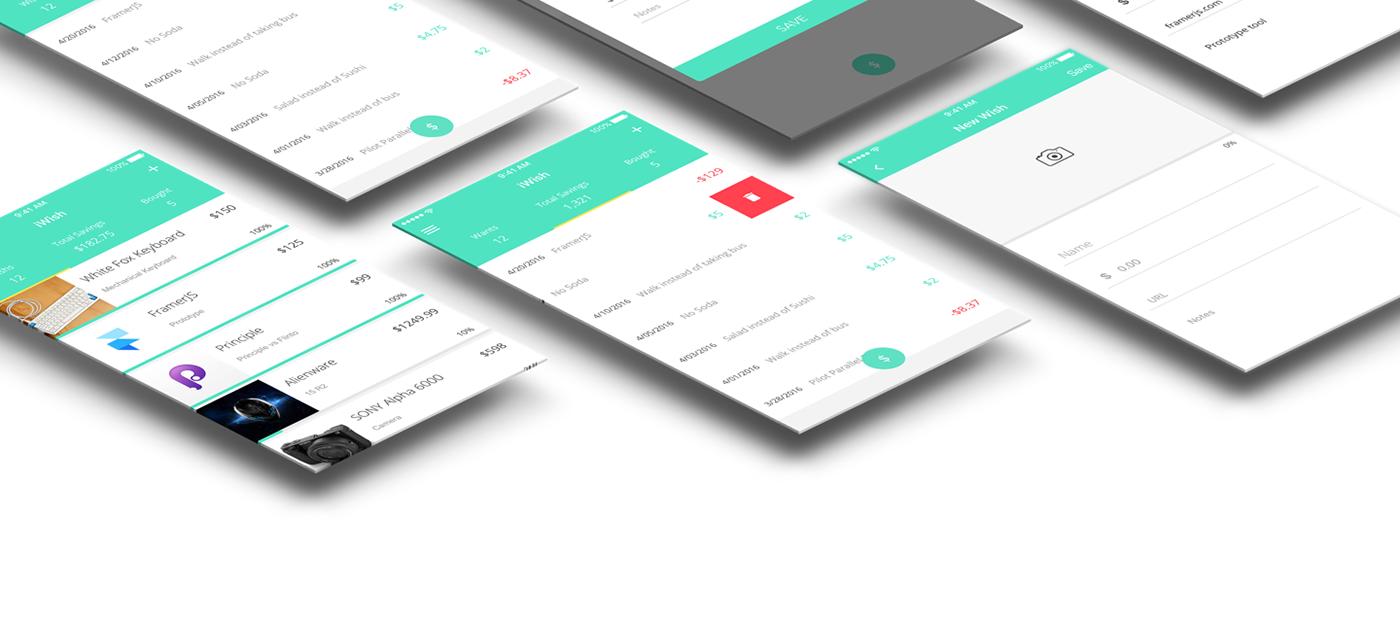 UI ux app finance saving ios iphone Interface app design user interface application