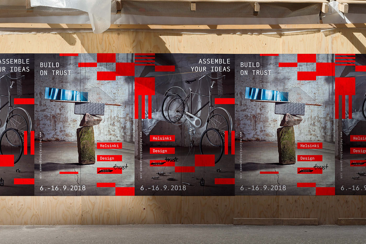 festival week Glitch moire designweek helsinki red conference Layout animation