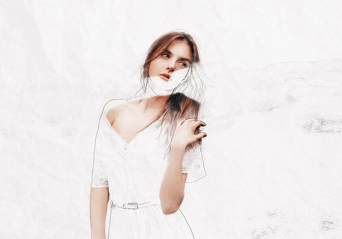 beauty,drawn,paper,edit,woman,model,lines,draw