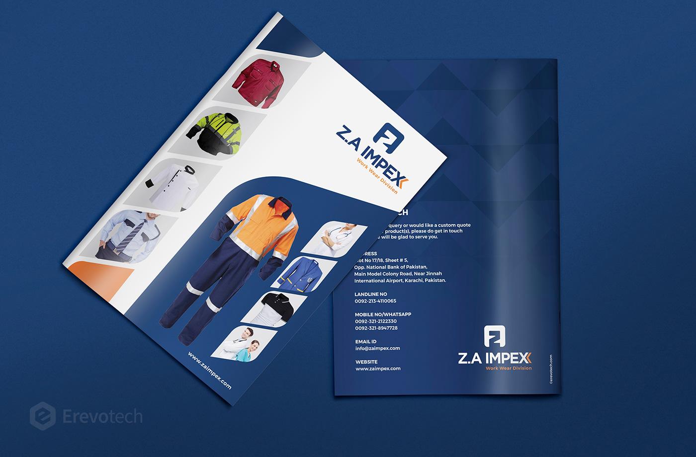uniform and workwear catalogue design