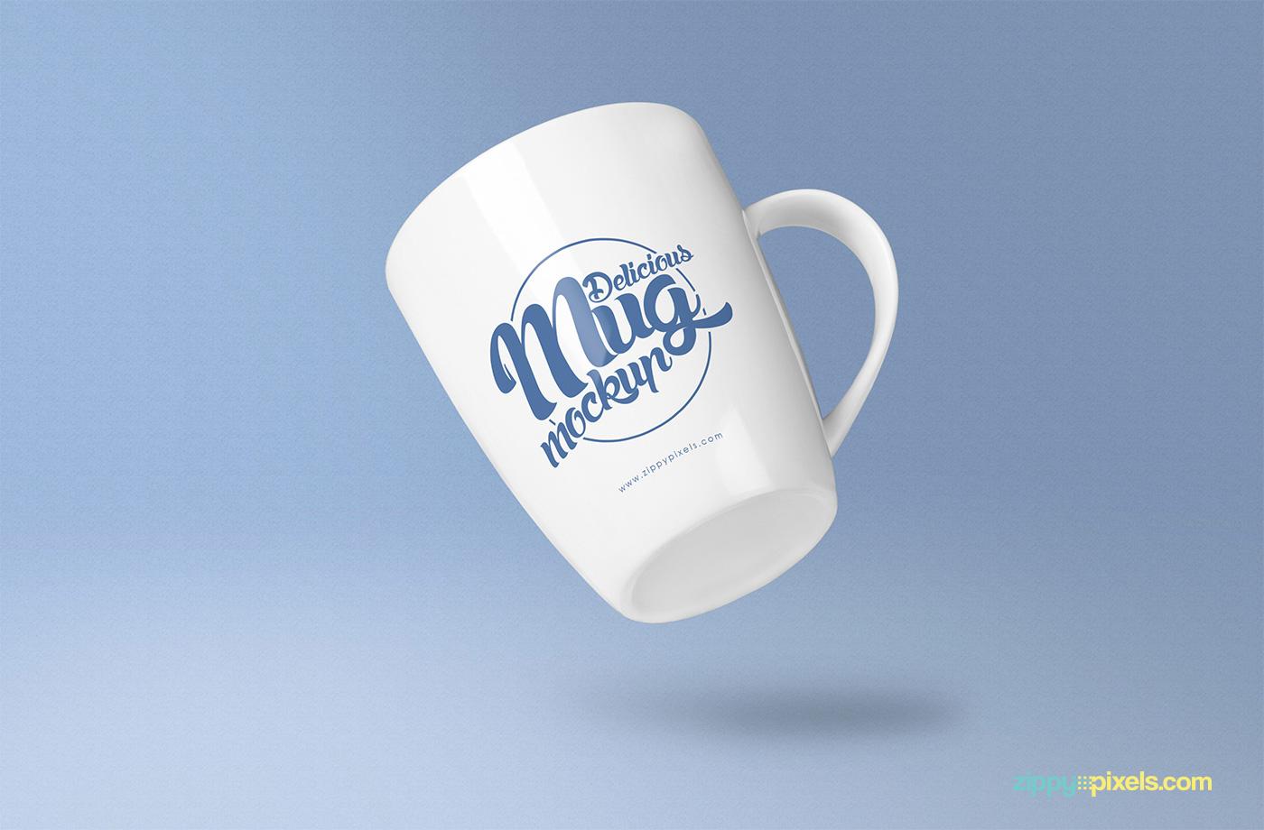 free freebie Mockup mockups Mug  psd coffee mug photoshop presentation Branding design photorealistic logo merchandising promotional design
