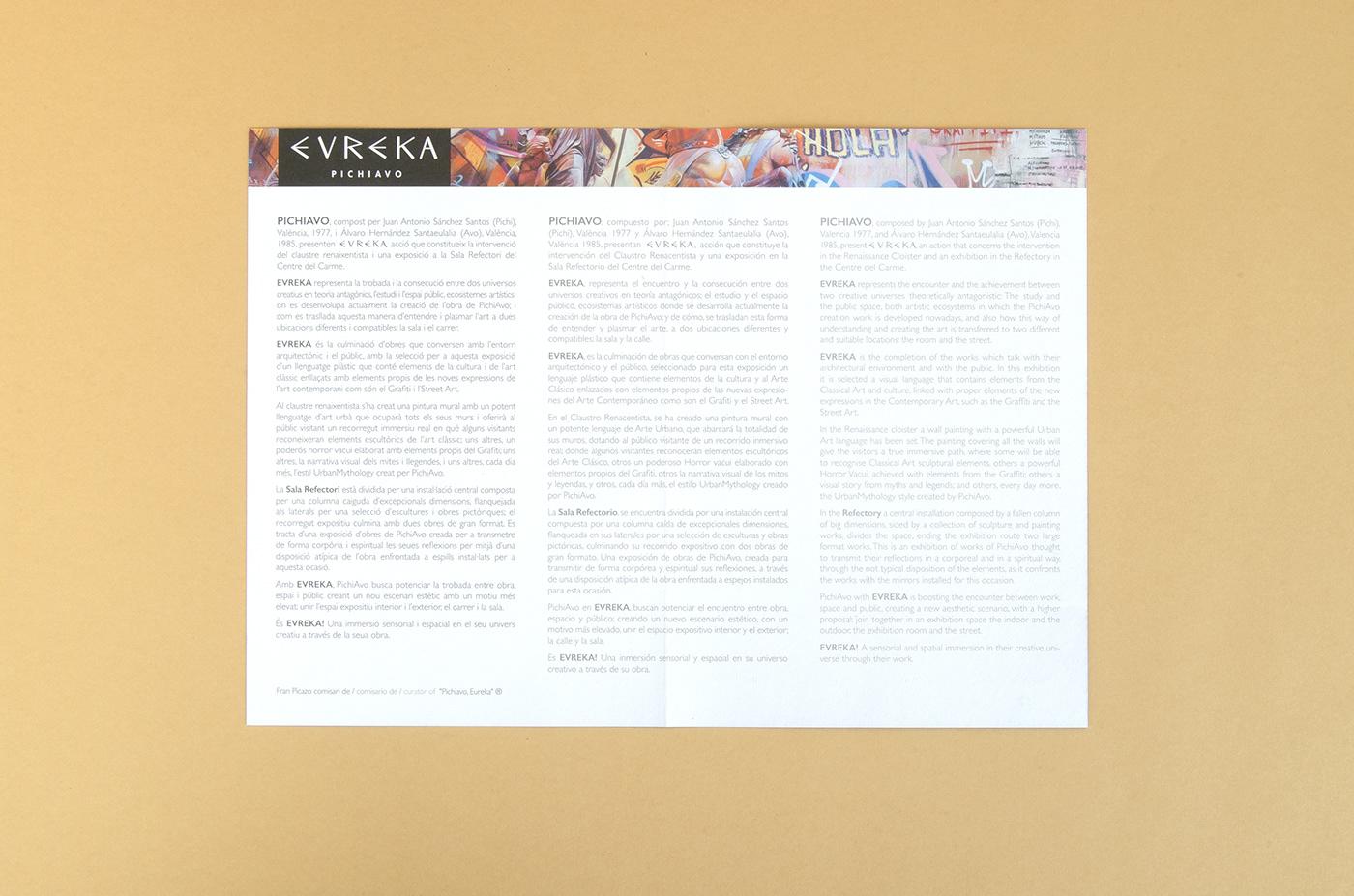 pichiavo Fallas valencia diptico Printing imprenta papel paper
