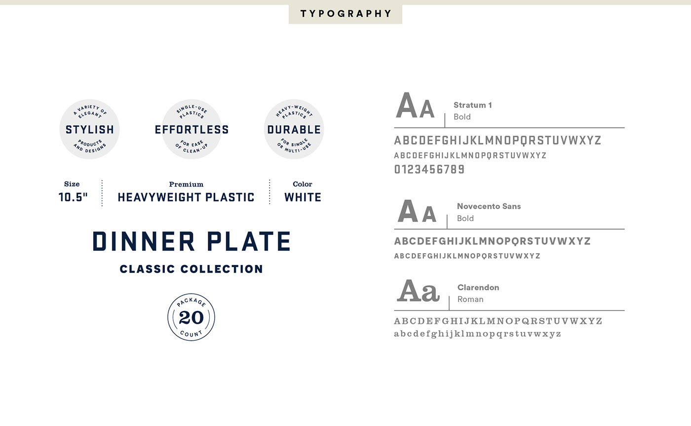 watercolor ILLUSTRATION  art direction  strategy plastic plates dinnerware San Diego brand interactive Packaging