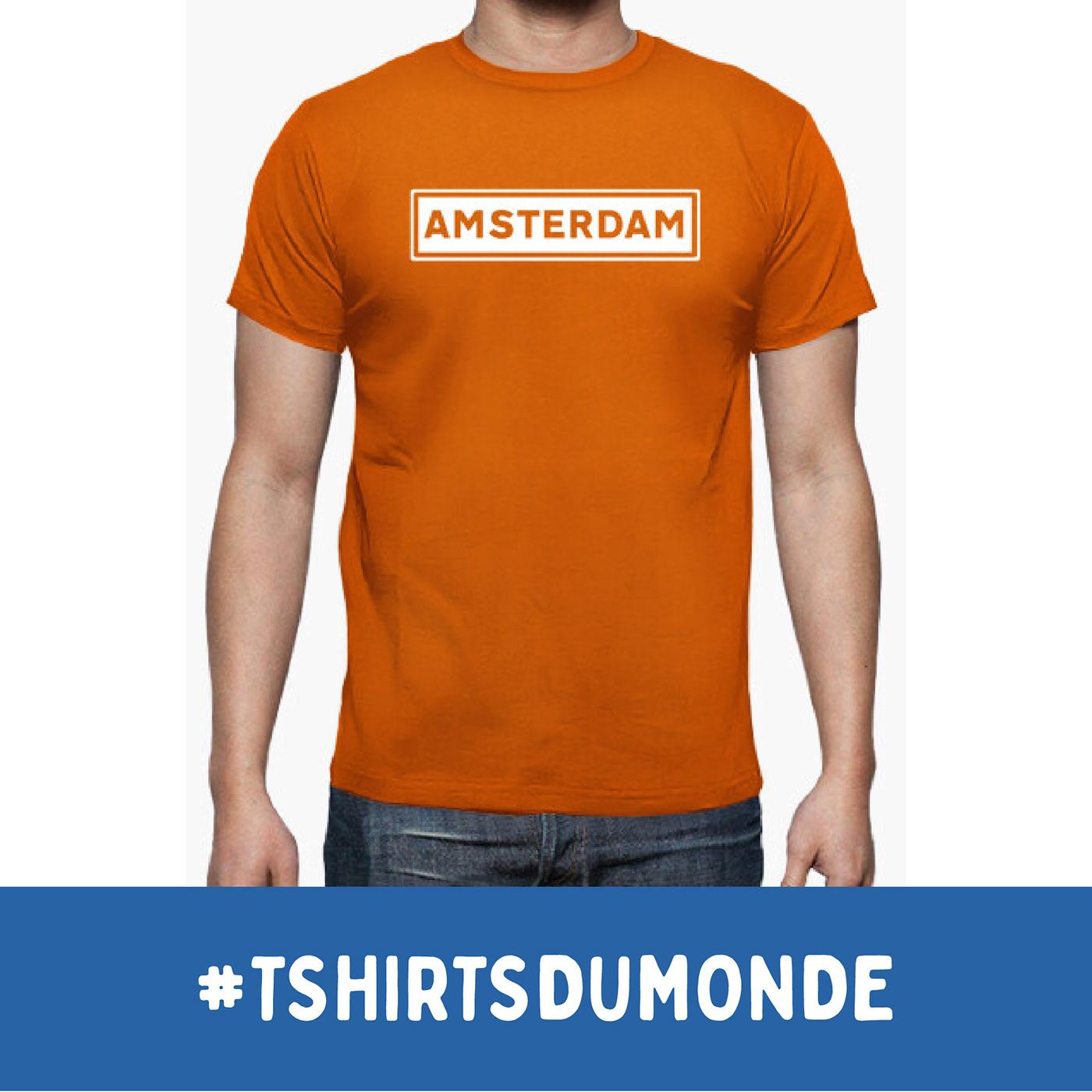 AMSTERDAM / T-SHIRTS DU MONDE Collection, by Brassens Studio / ©Tomás Sastre