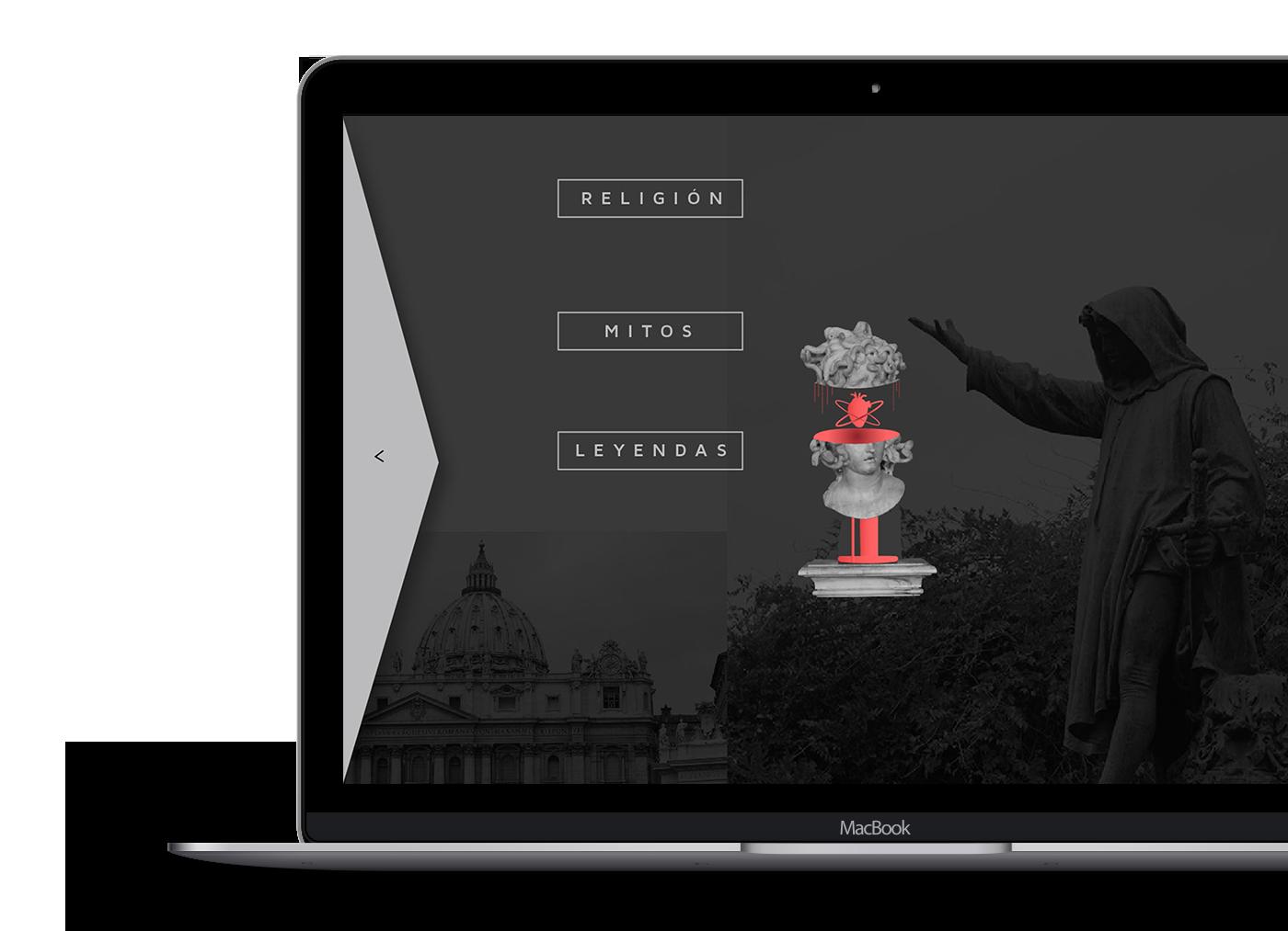 art roma Rome maquetacion web Web red grey miguel angel religion ux/ui