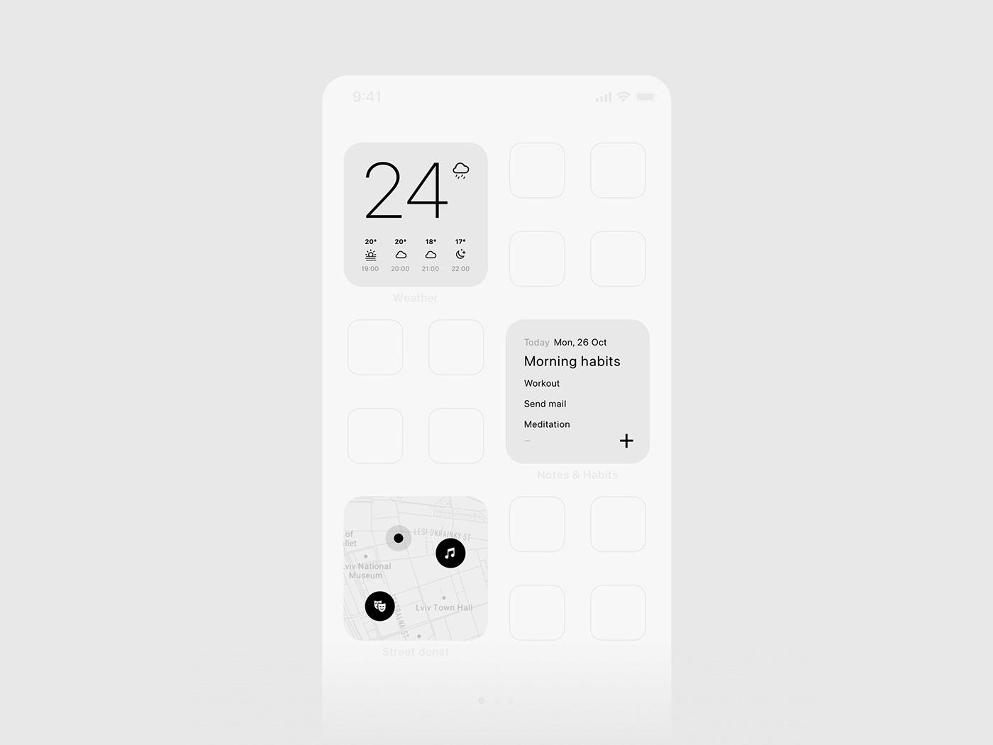 app app design design ios iOS design minimal mobile ui ux UI ux