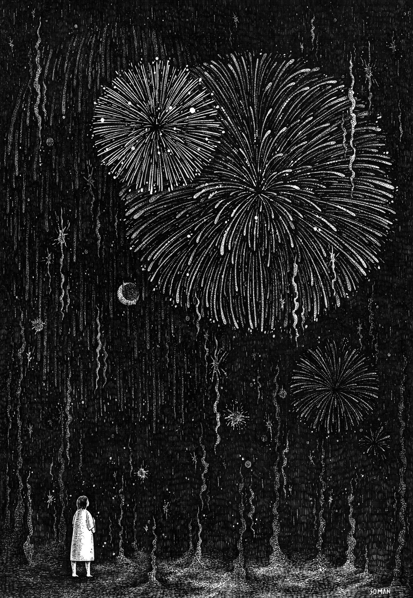 black and white light night pen