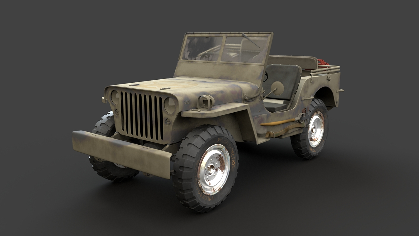 Stylized Military Truck on Behance