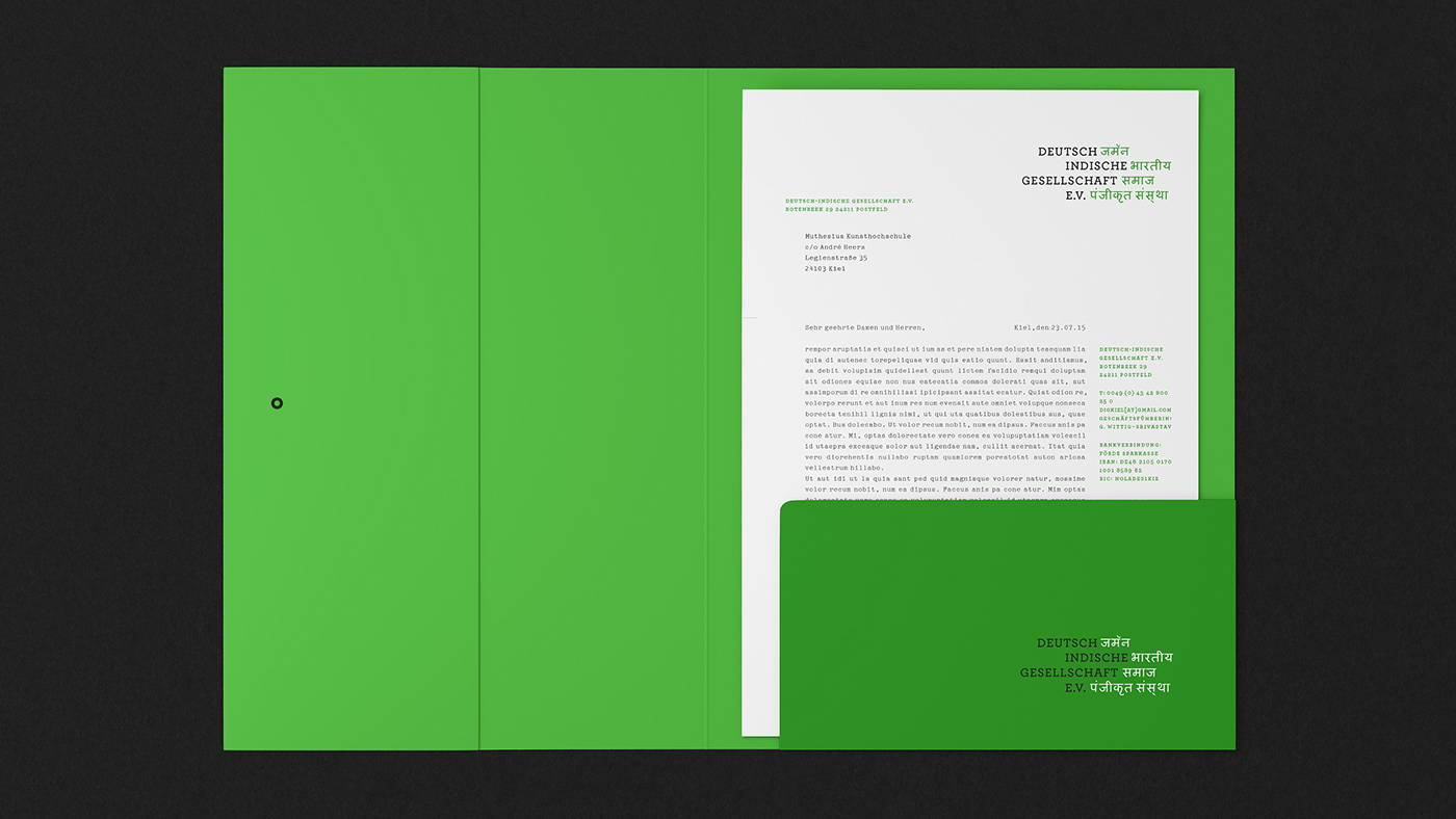 branding  business card graphic design  green identity India letterhead logo Stationery typography
