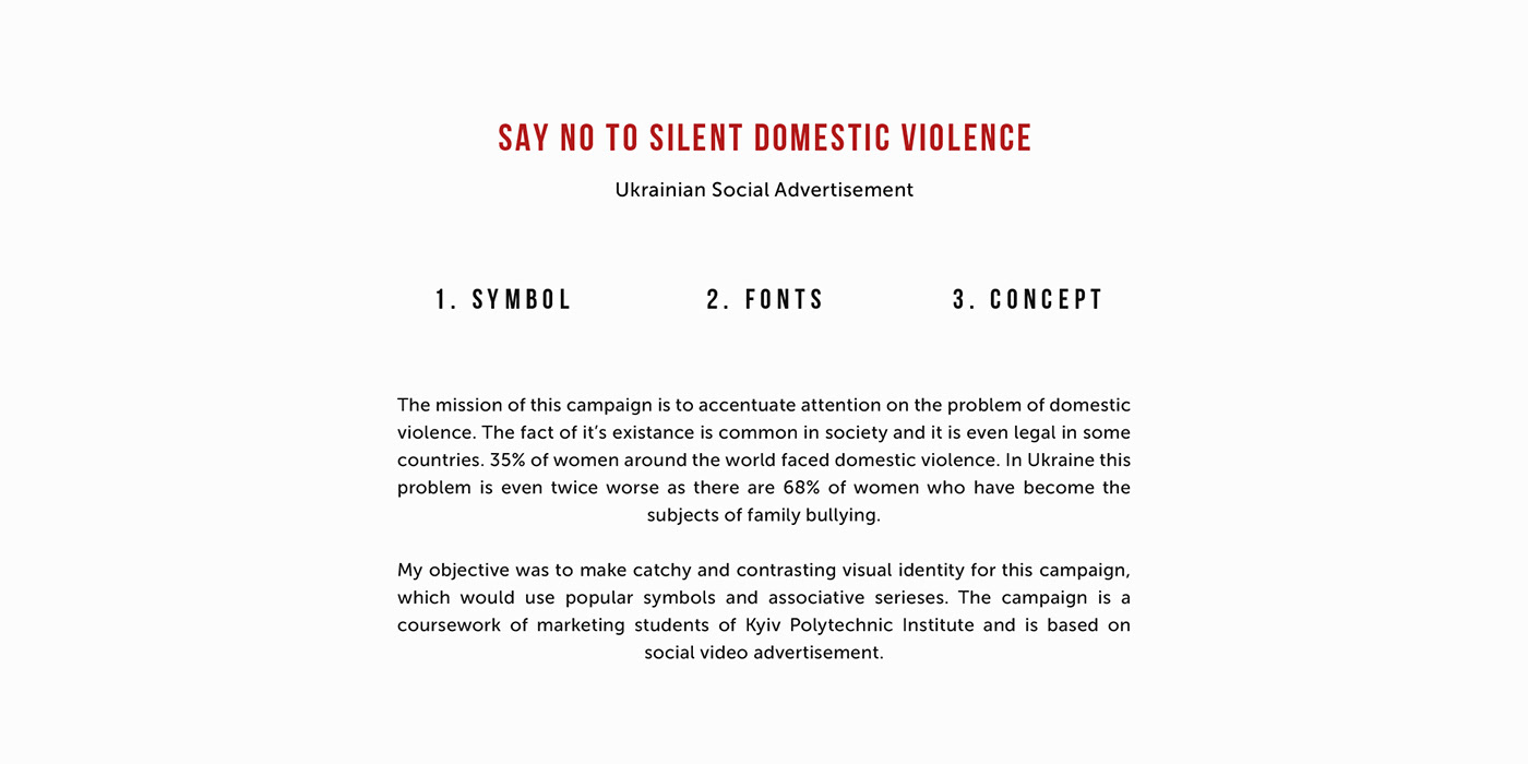 Say No To Silent Domestic Violence Social Ad Identity On Behance