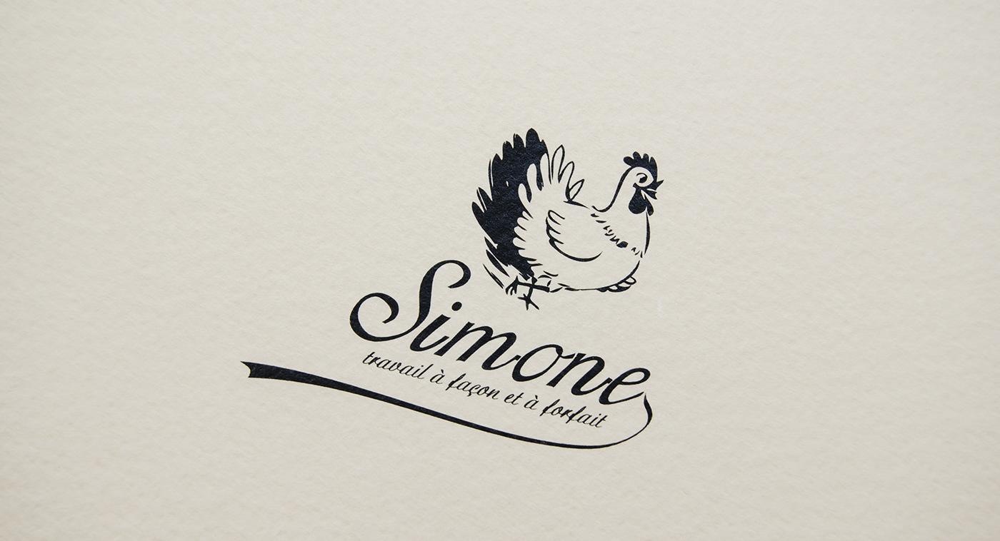 En Avant Simone  lecoupdulapin  logo  identity