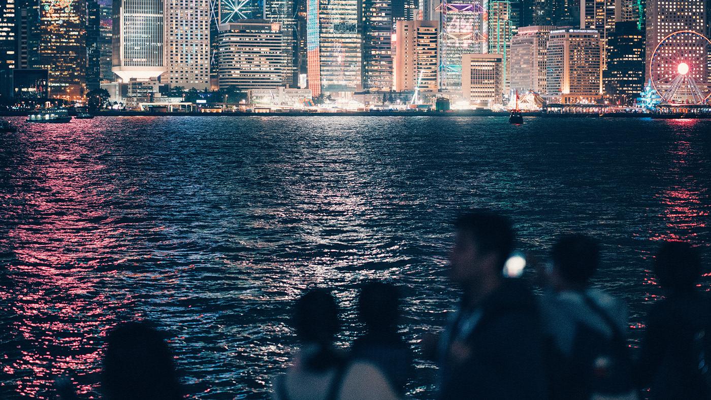 Hong Kong china asia cinematic night Melancholy future