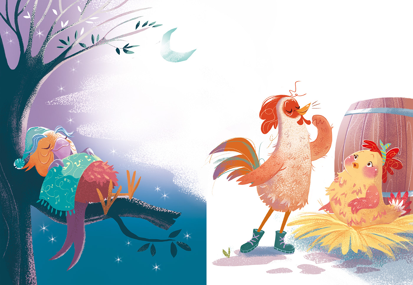 ILLUSTRATION  digital paint animals children illustrations drawings illustrazione children's book Character design  funny animals inspire