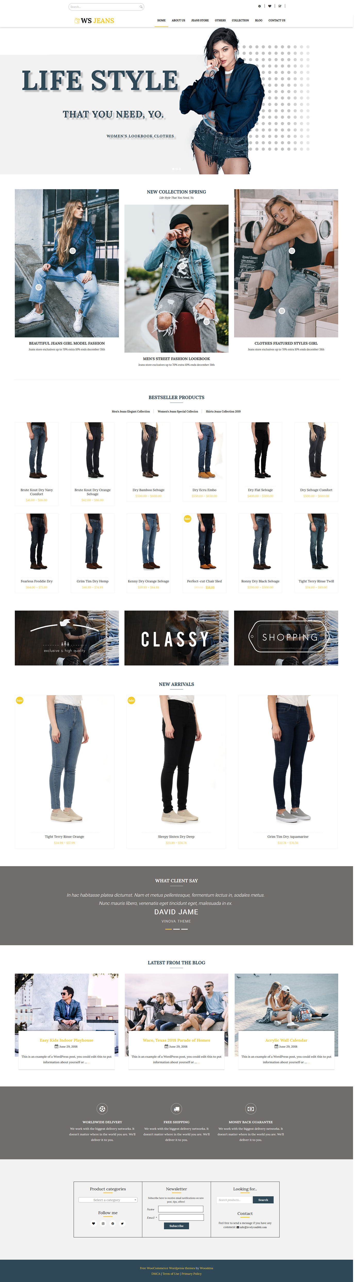 Clothing WordPress Theme Fashion WordPress Theme wordpress theme WooCommerce WordPress Theme