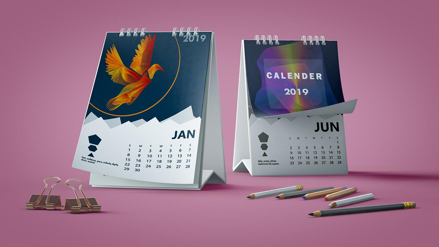 高質量的36張月曆設計欣賞