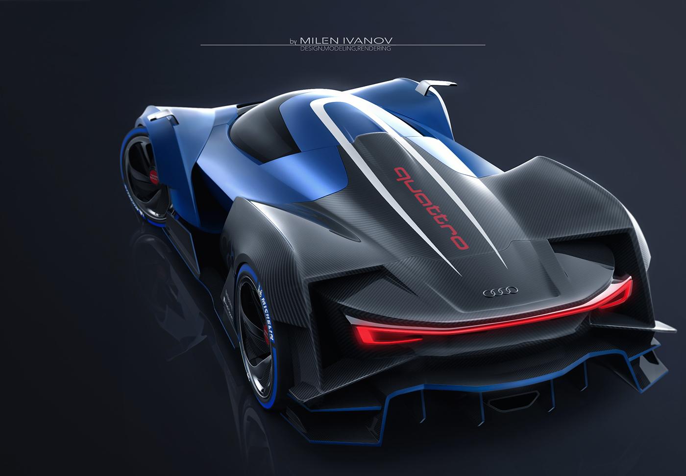 Audi concept 3D rendering car design 3dmodel