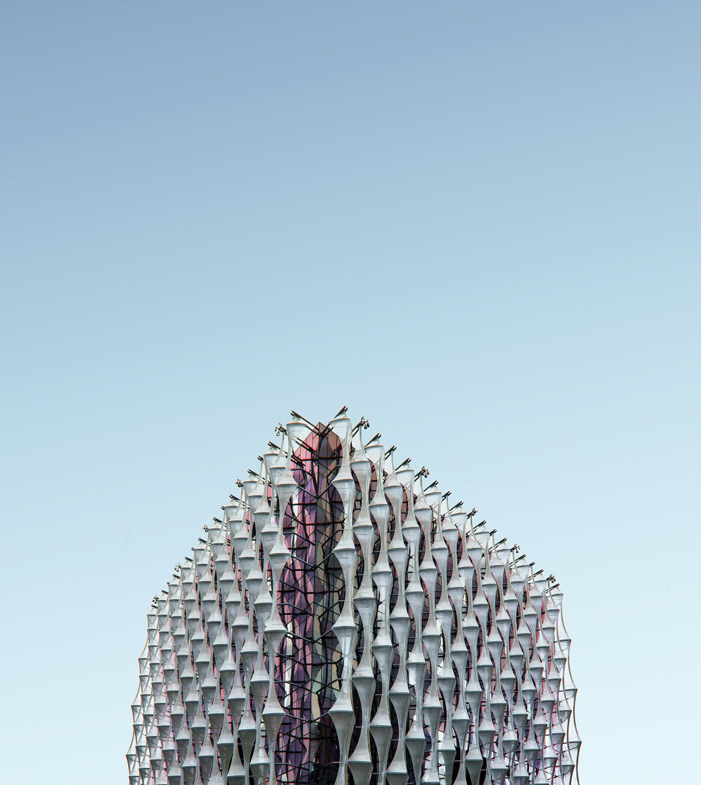 minimal building pattern Urban city geometry blue sky Minimalism architecture London