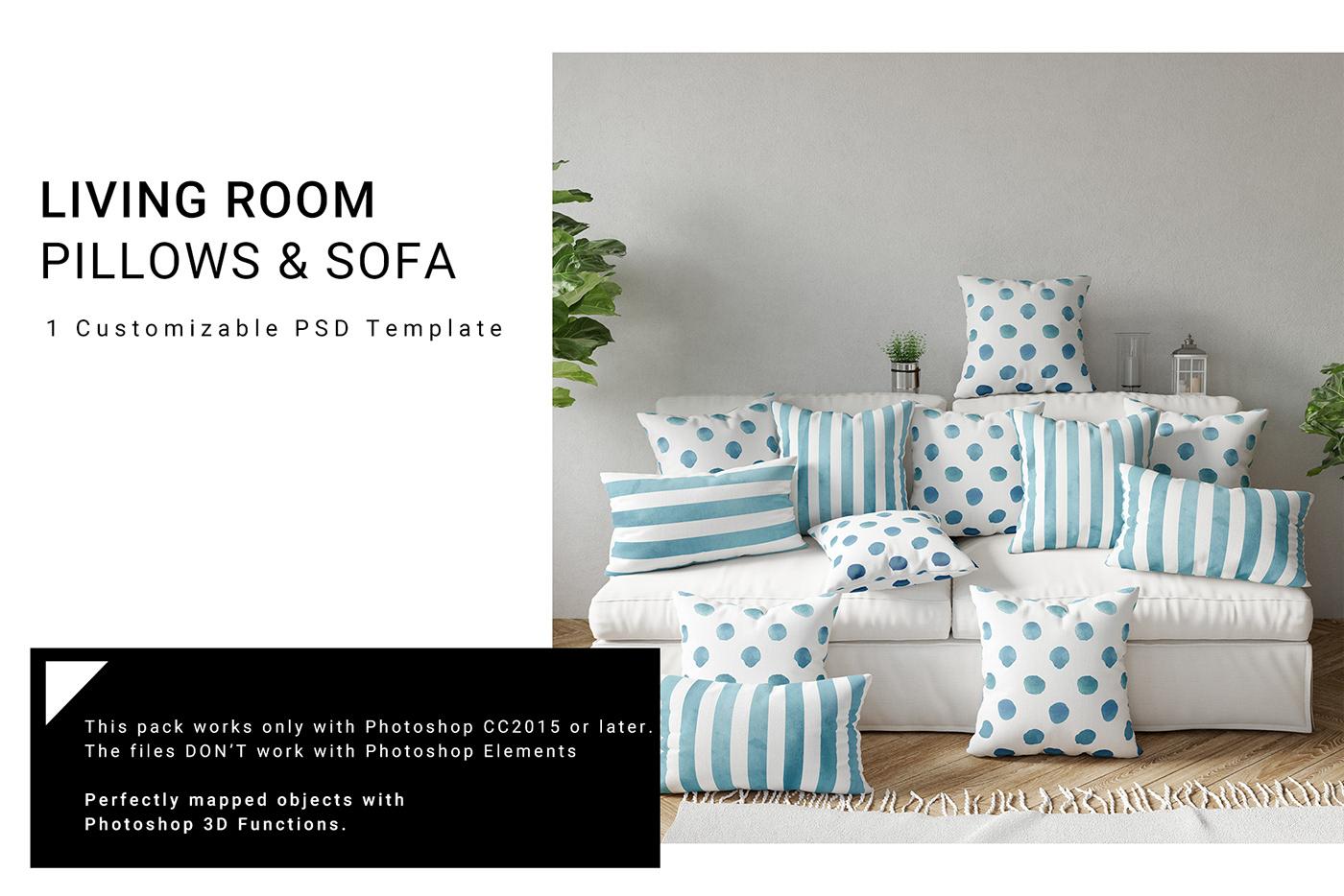 Throw Pillows Lumbar Pillows Sofa On Behance