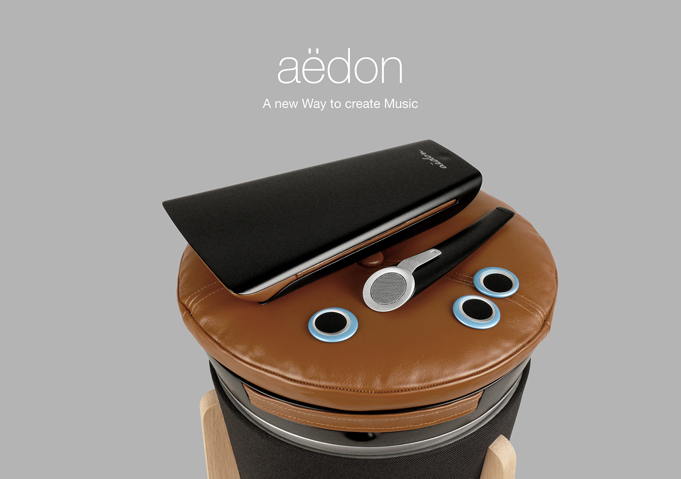instrument electronic music Interface speaker Musical Instrument leather wood tangible user interface tangibles