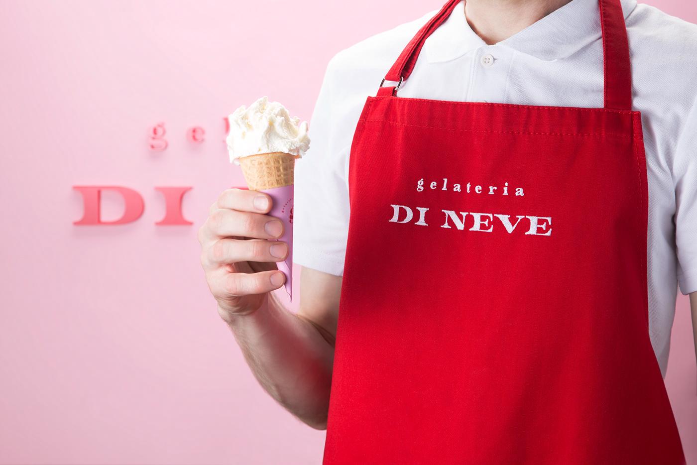 Food  Packaging ice cream Gelato cafe restaurant ILLUSTRATION