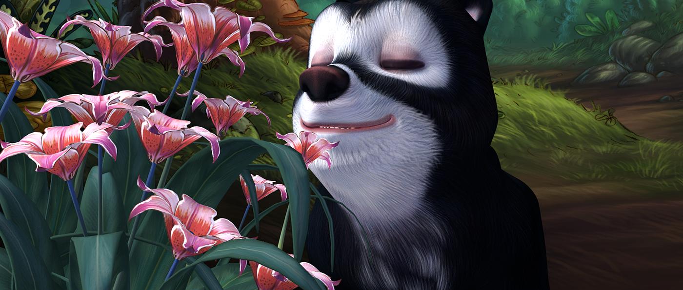 3D animation  movie bear venezuela enviroment child movie cinema 4d compositing