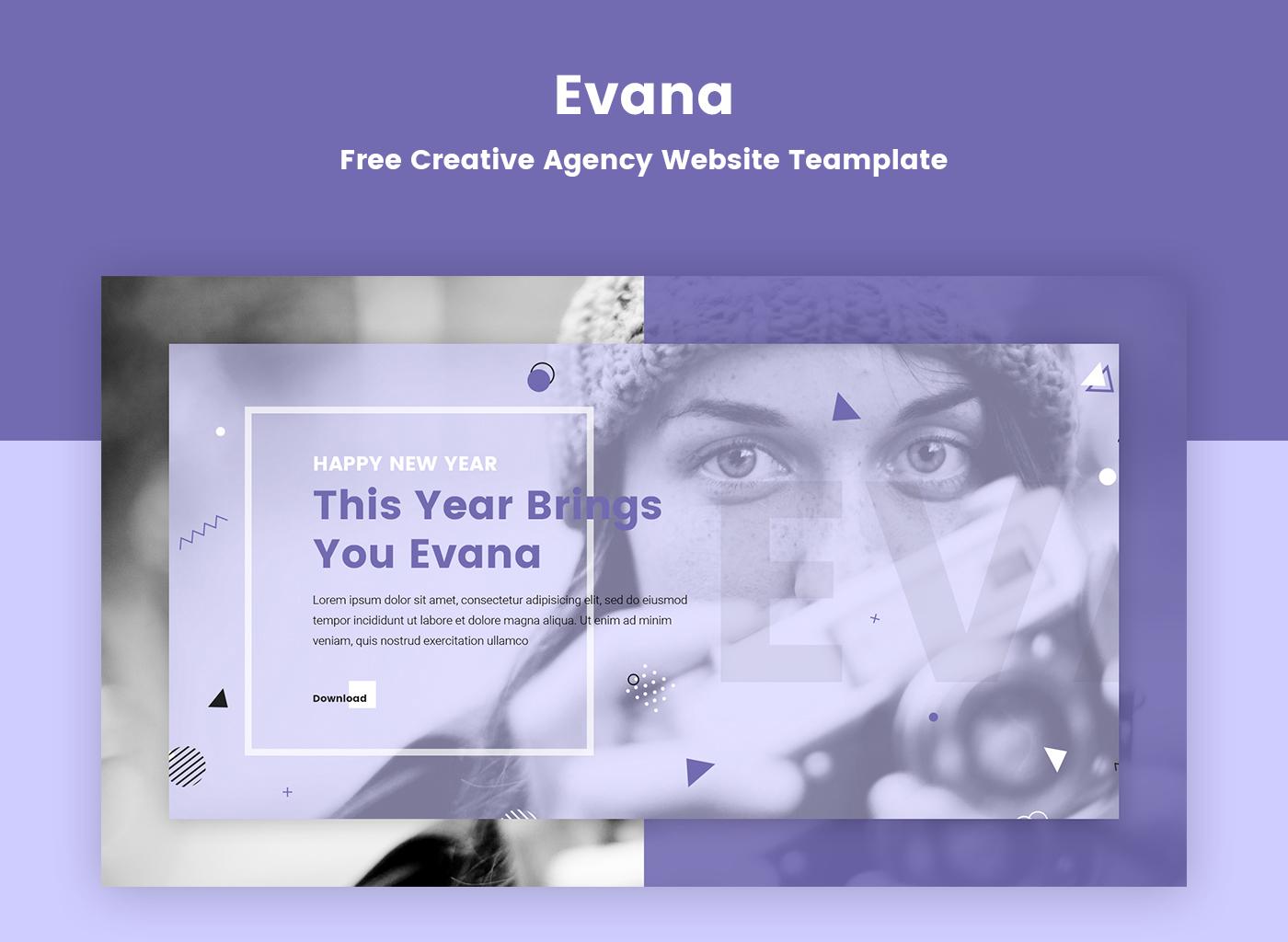 Creative Design creative agency creative design agency Free psd template Psd Template Freebie