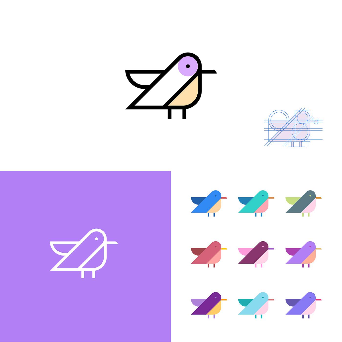 animal logo bird logo brand identity branding  graphic design  logo collection Logo Design logo inspiration logofoligo