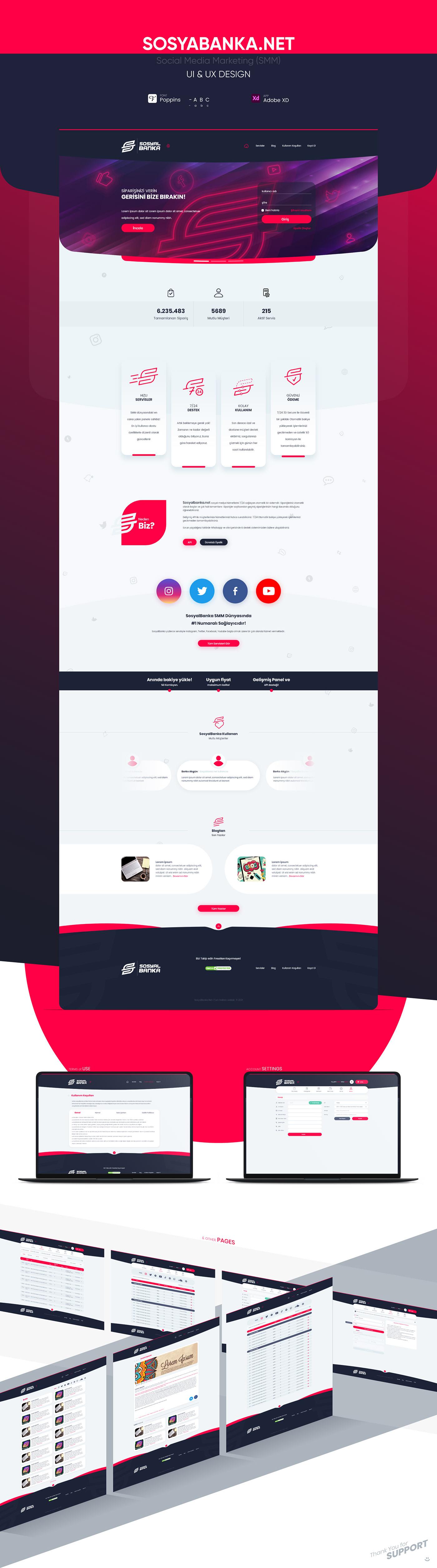 Like Mobile UI services SMM social media social media marketing Web UI