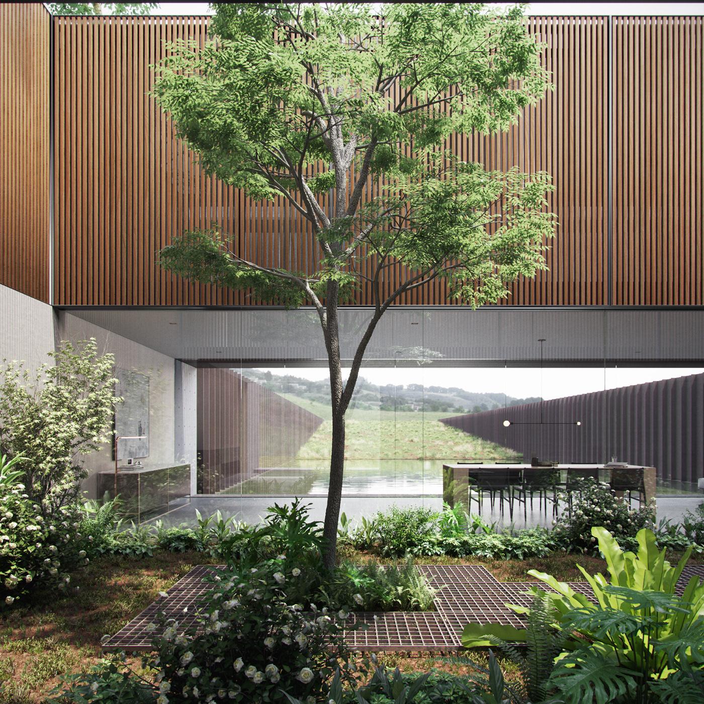 Modern Courtyard Garden Part 1 On Behance