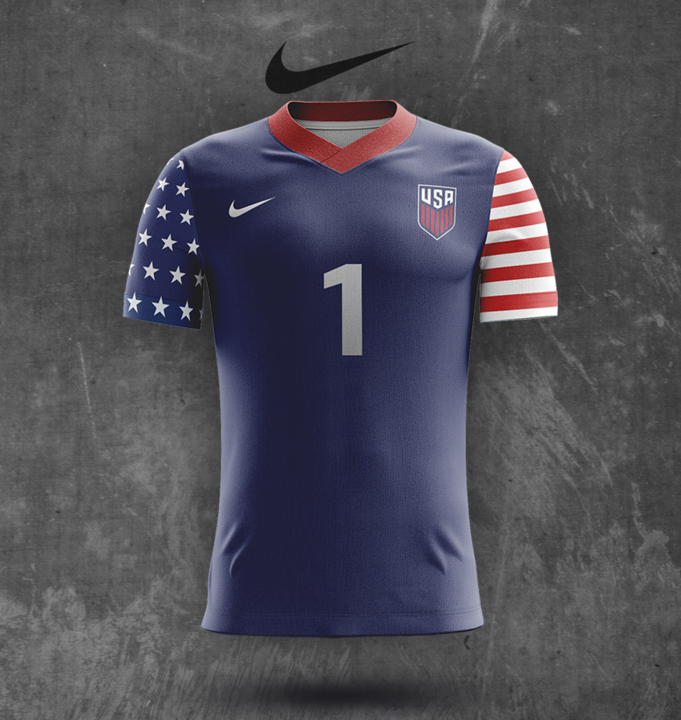 buy popular 7e1f9 651ed Concept US Men's National Team Nike Soccer Kit Designs on ...