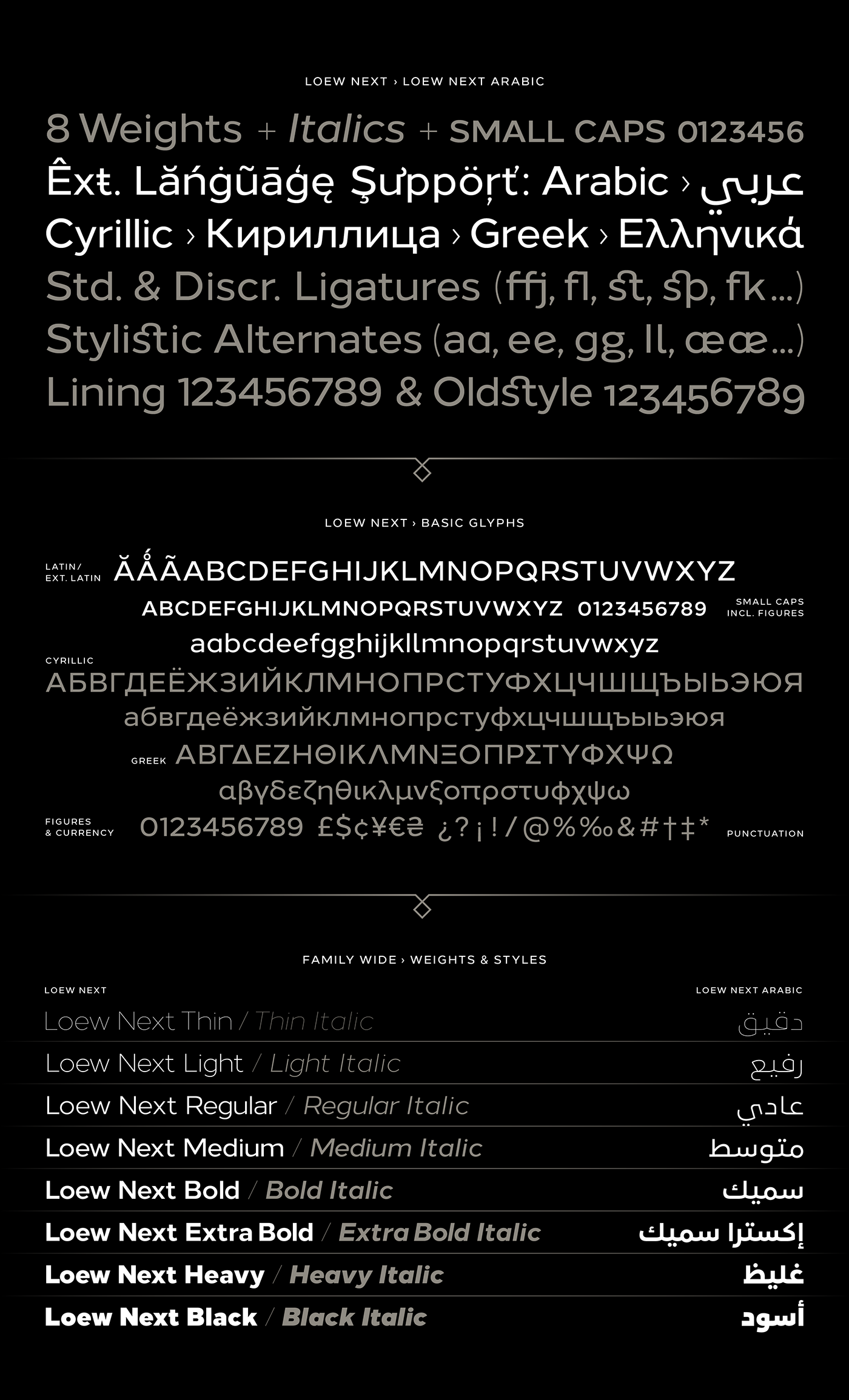 Loew Next & Loew Next Arabic – Type Family on Behance