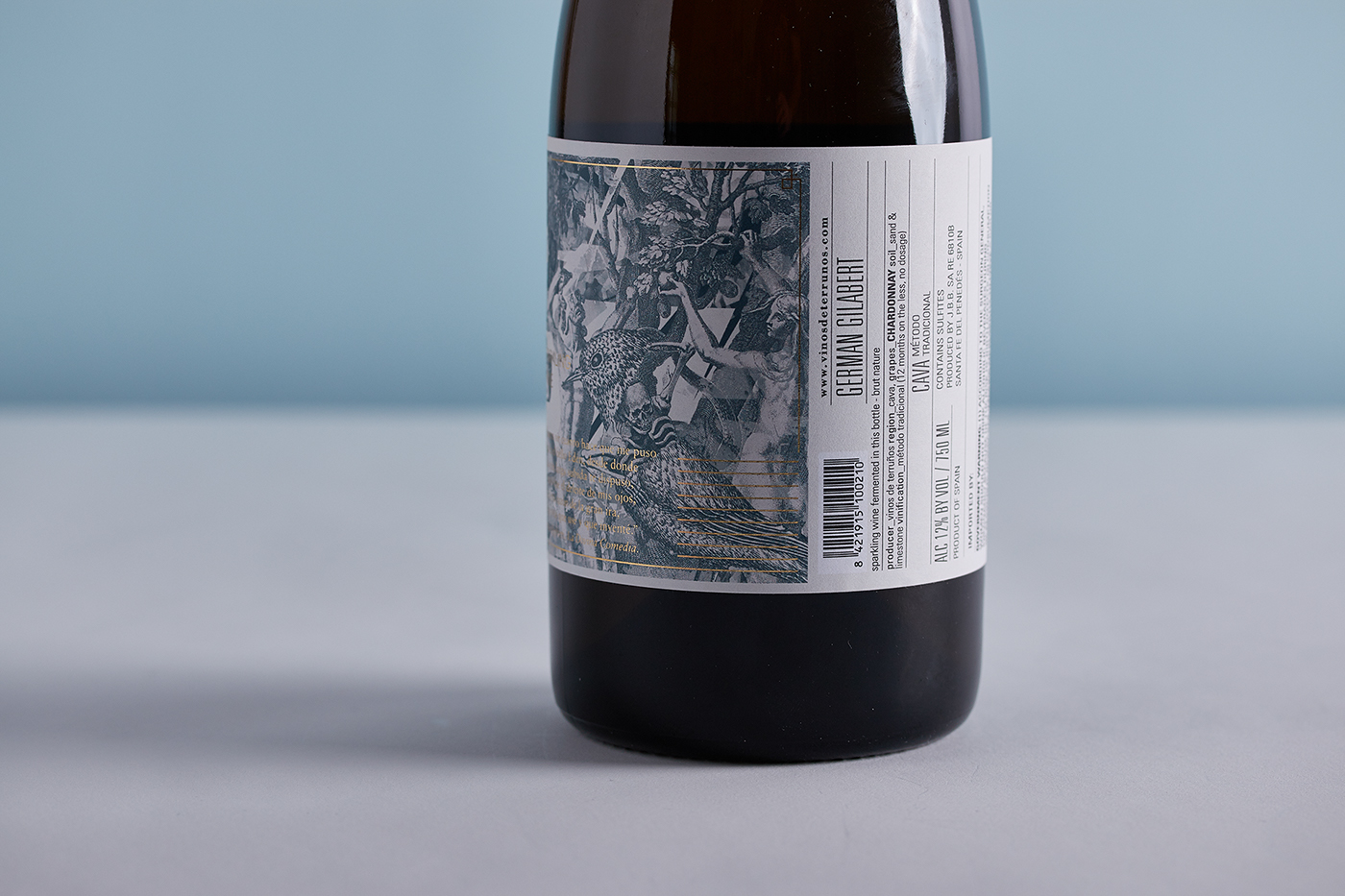 Label wine sparkling cava collage Packaging etiqueta vino