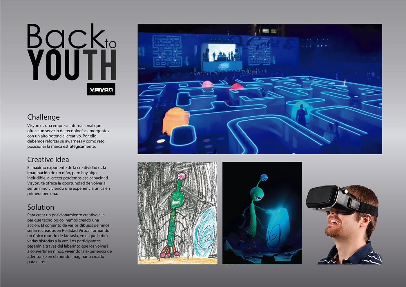 VISYON Virtual reality realidad virtual vr creatividad inocencia infancia dibujos 3D niños