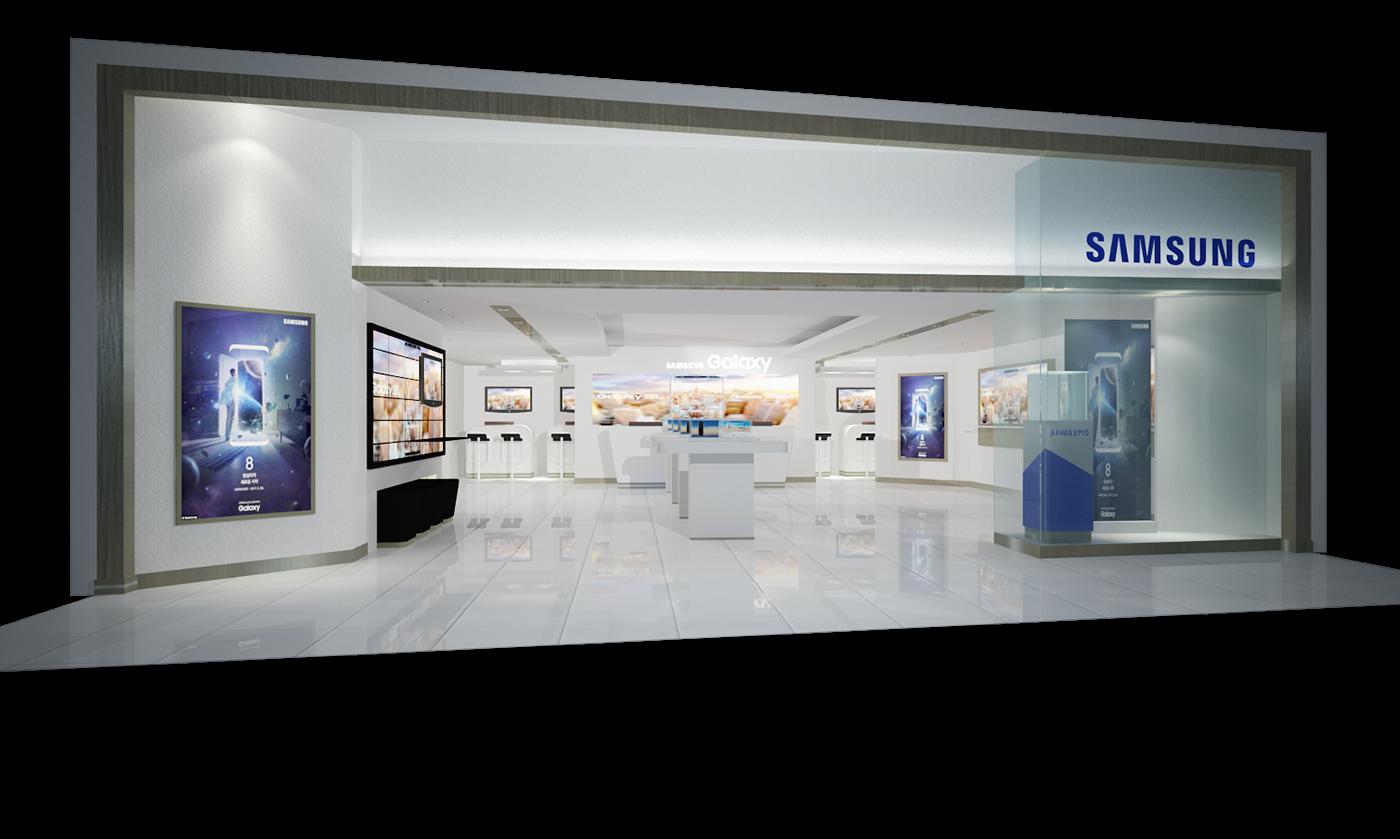 retail store FLAG SHIP store interior designer Samsung