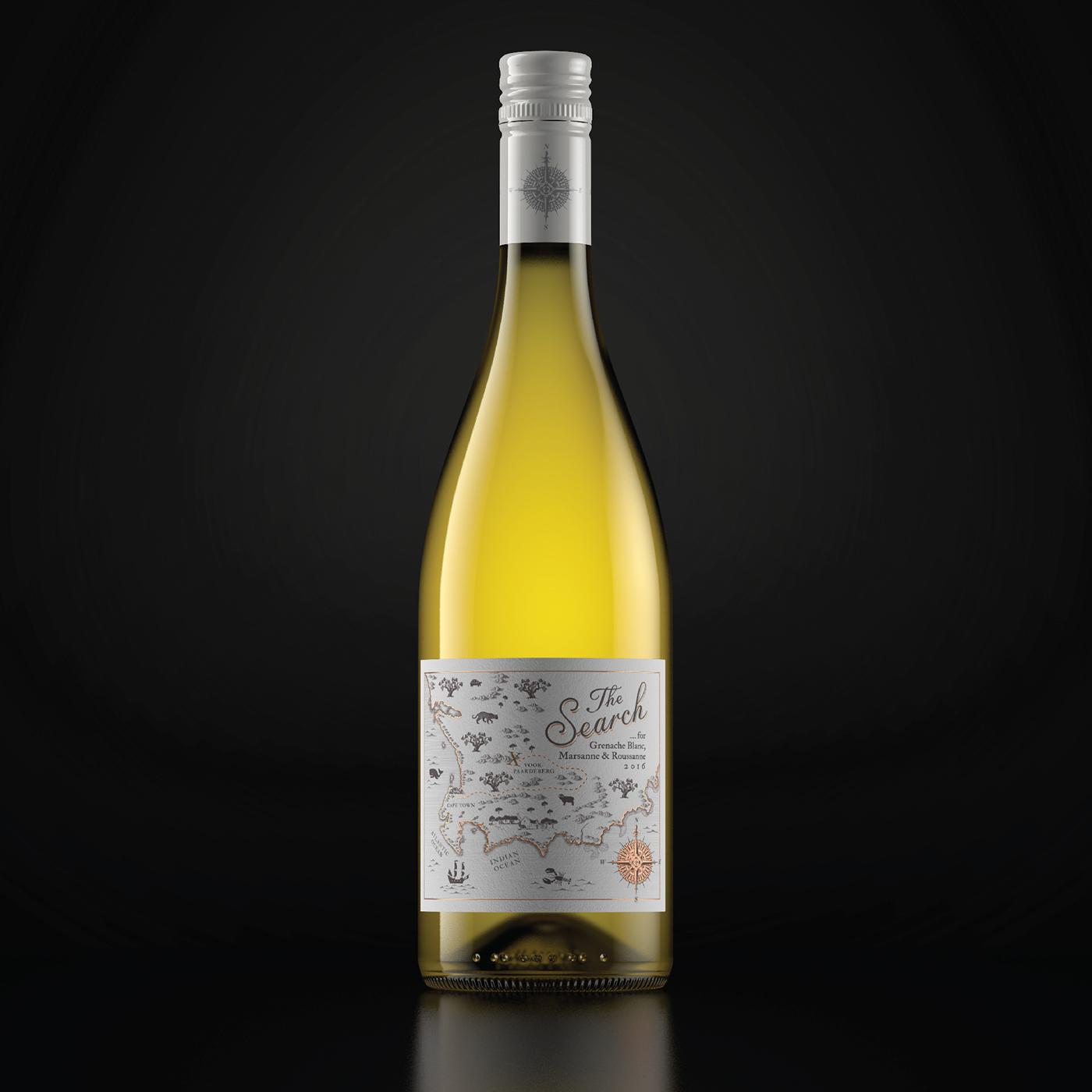 wine wine label map south africa Rose Gold rose gold foil