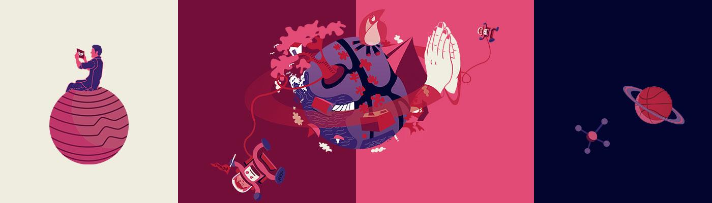 ilustration poster cartaz Ilustração Igreja ok go Estampa t-shirt