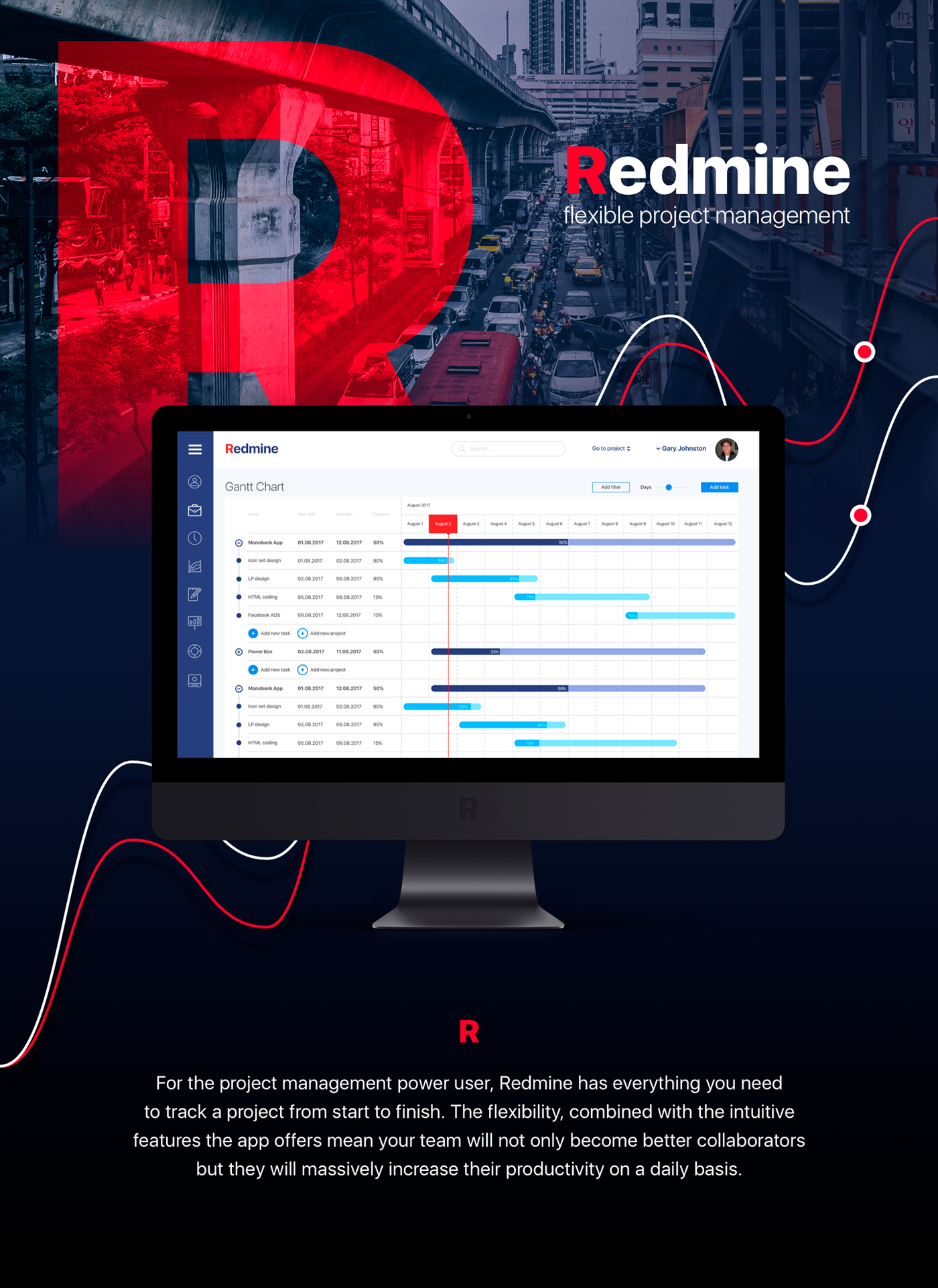 Redmine-project management  Redesign concept on Behance
