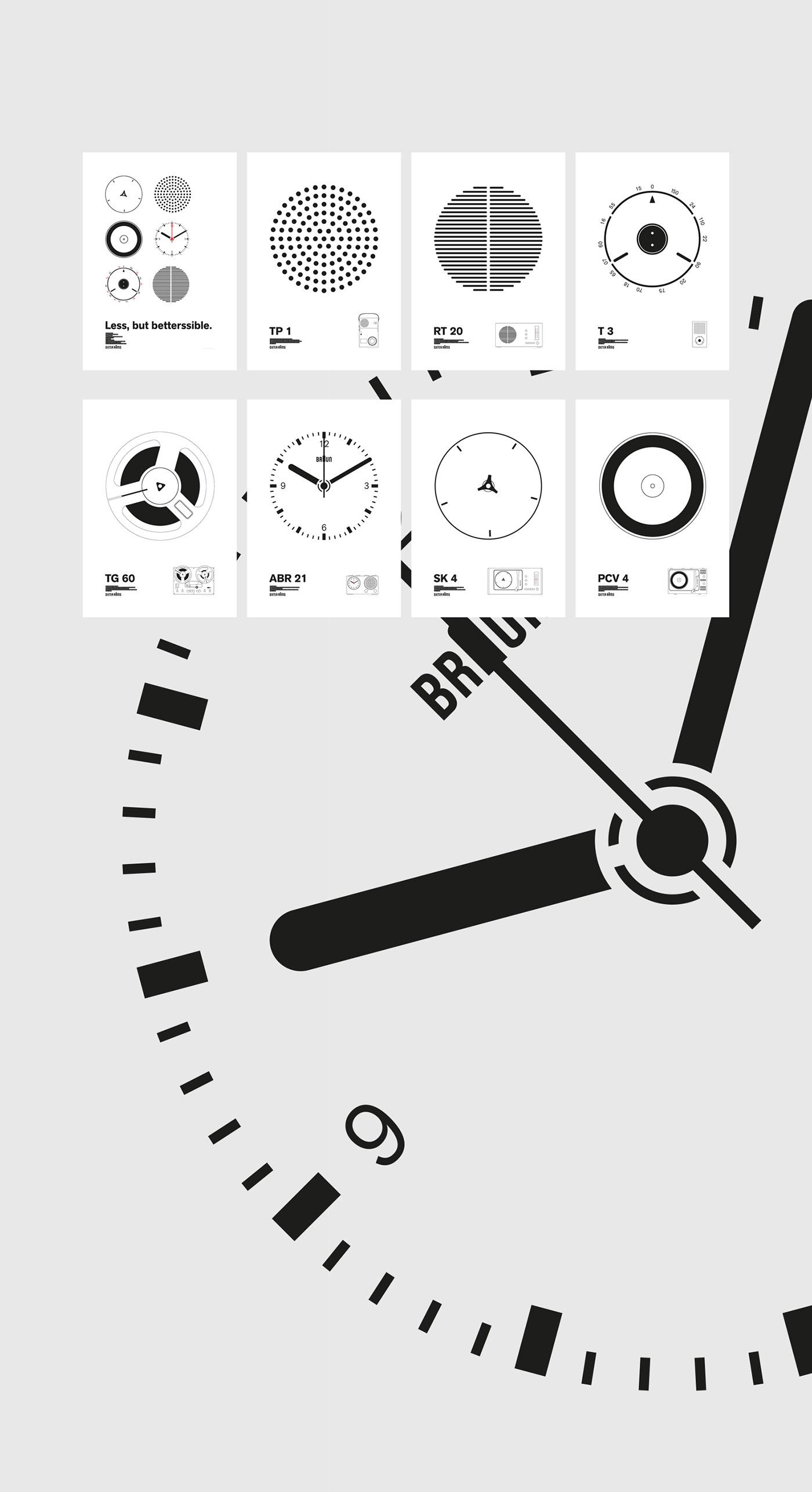 bauhaus braun devices Dieter Rams iconic ILLUSTRATION  infographic poster print