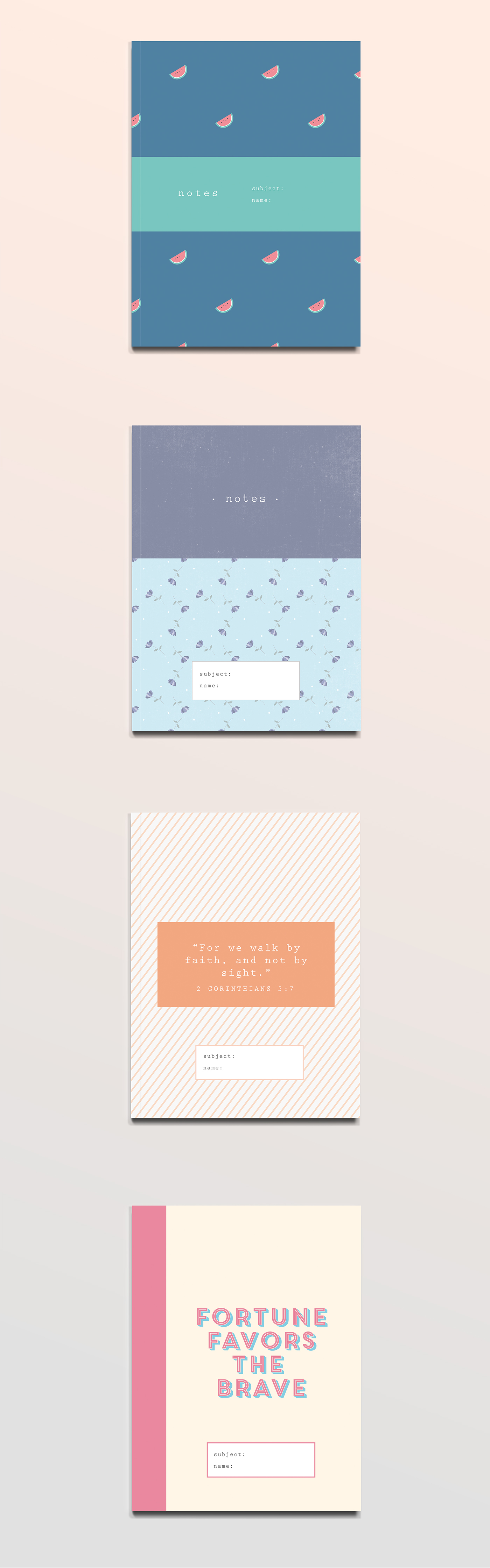 Notebook Cover Designs
