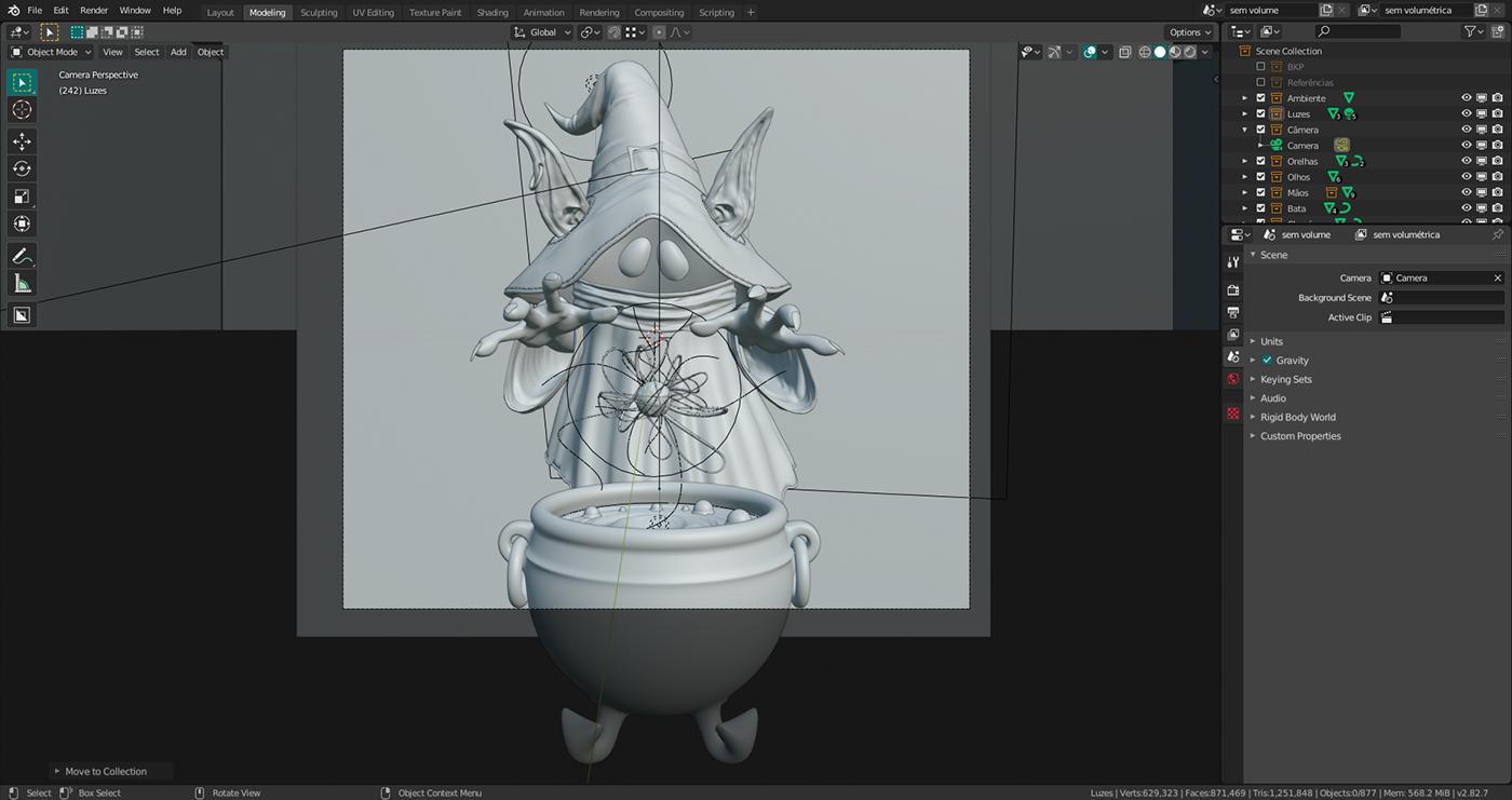 3D blender Character cycles he-man Orko photoshop Render substancepainter