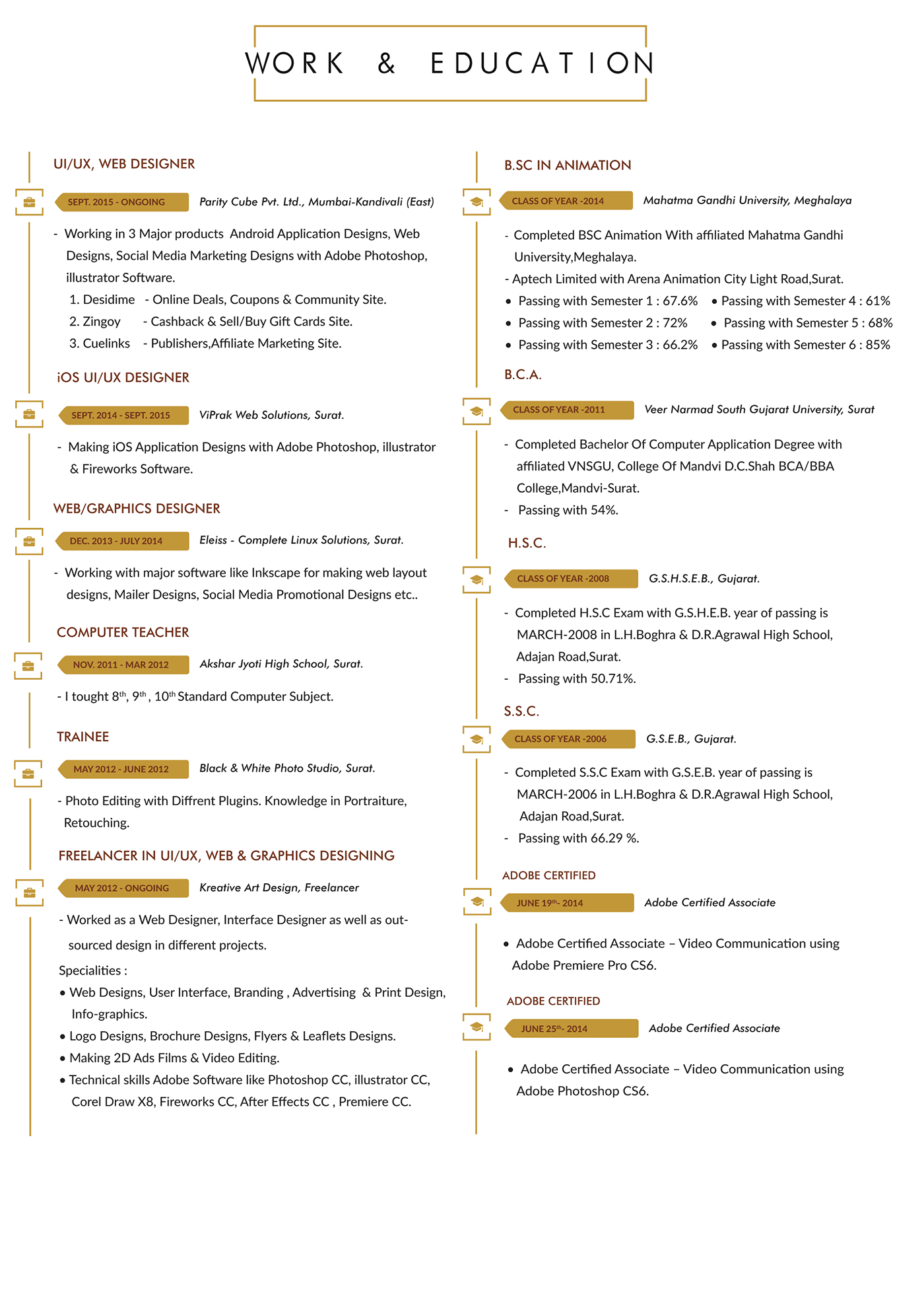 Resume - Keyur Pastagia on Behance