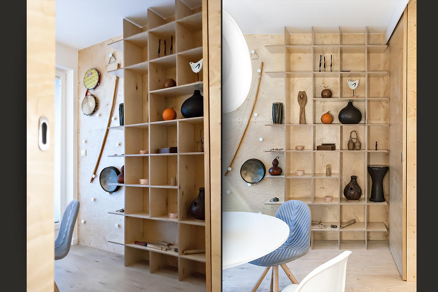 plywood sklejka apartament architekt wnętrz Warszawa Custom furniture unikalne meble projektant wnętrz