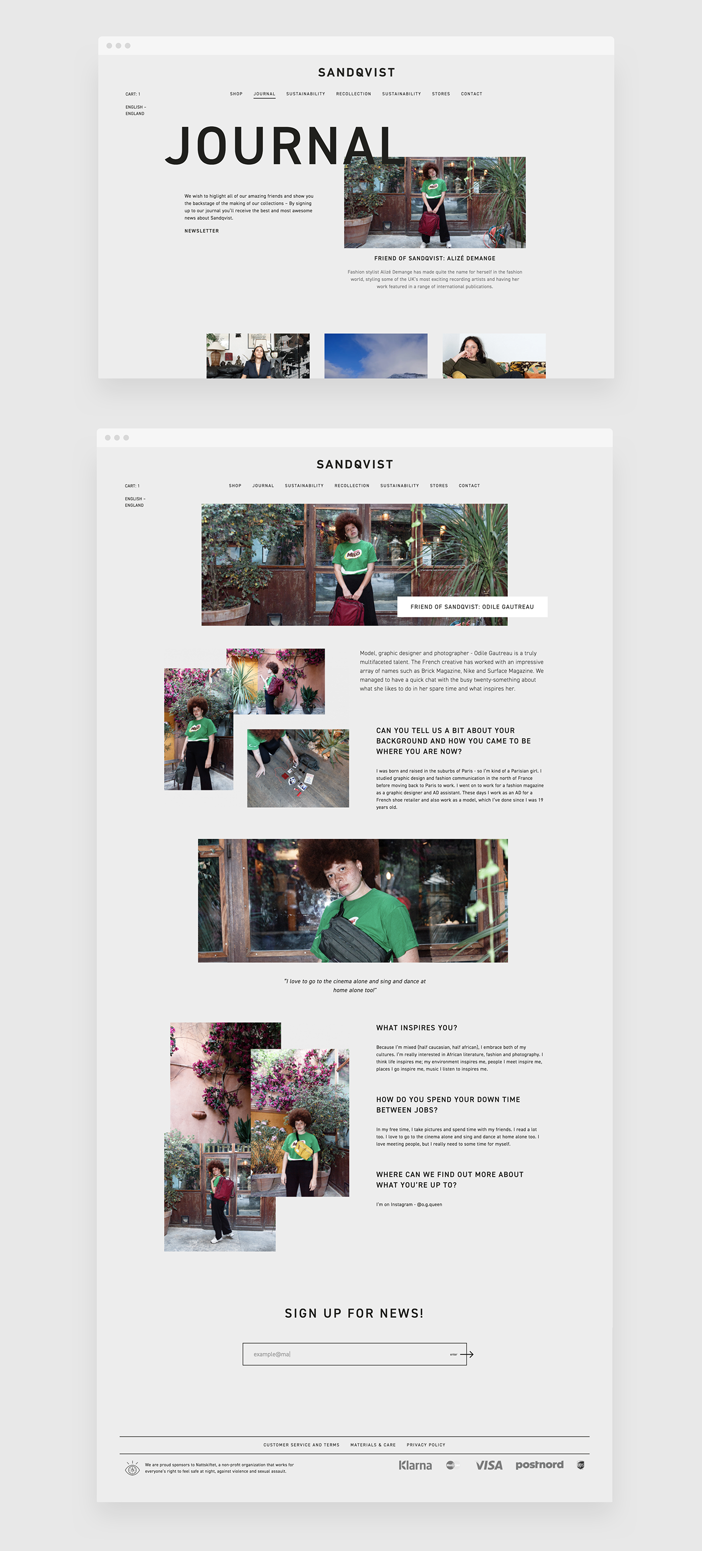 Web Design Concept and Prototype for Sandqvist