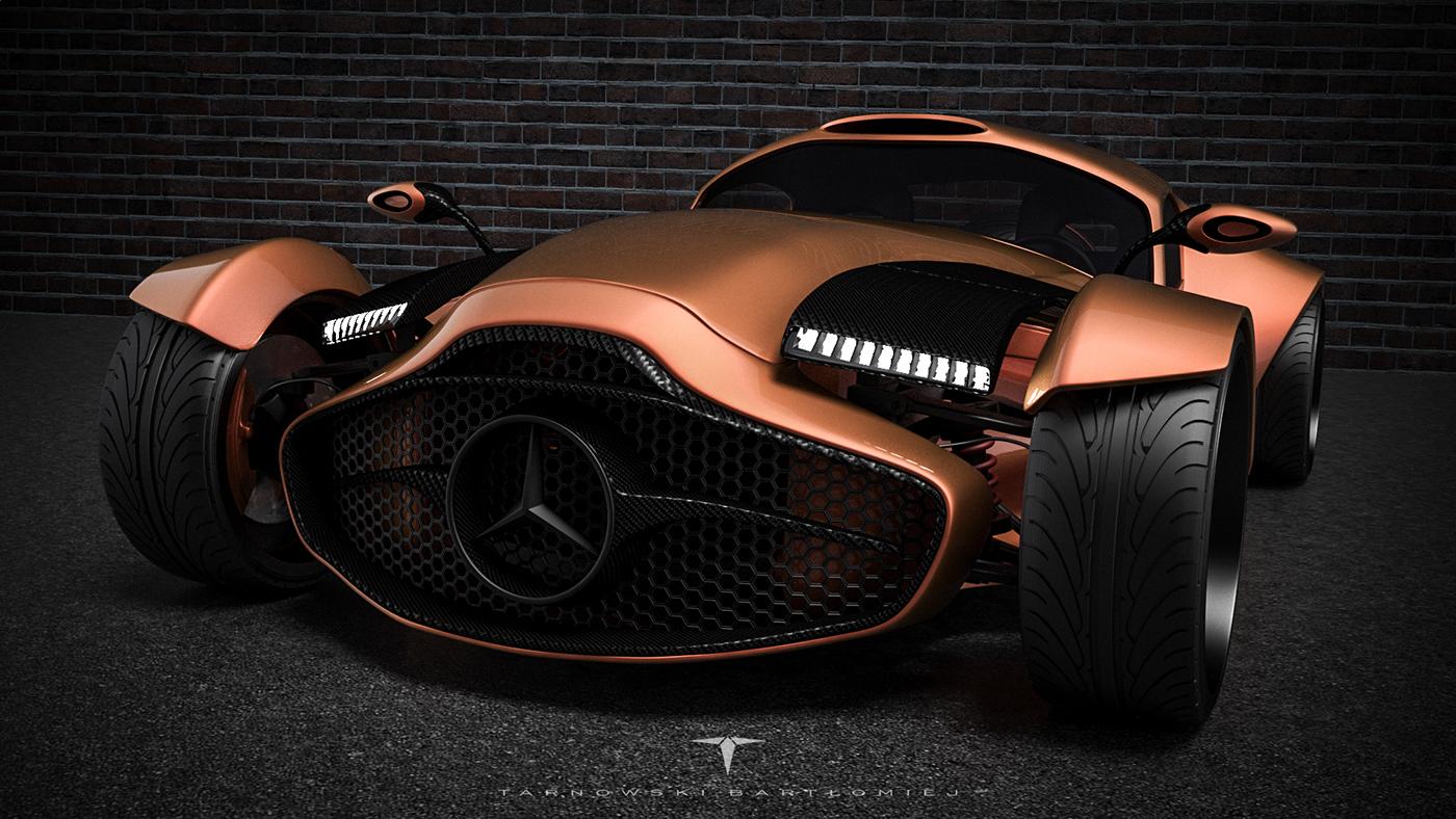 mercedes Benz 540k concept 3ds MAX car Auto sport