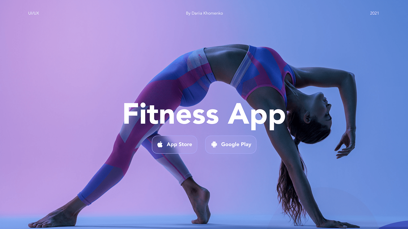 fitness app Mobile app mobile design UX Research Web Design