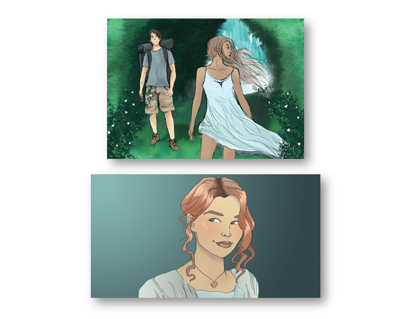 digital painting drawings illustrations painting