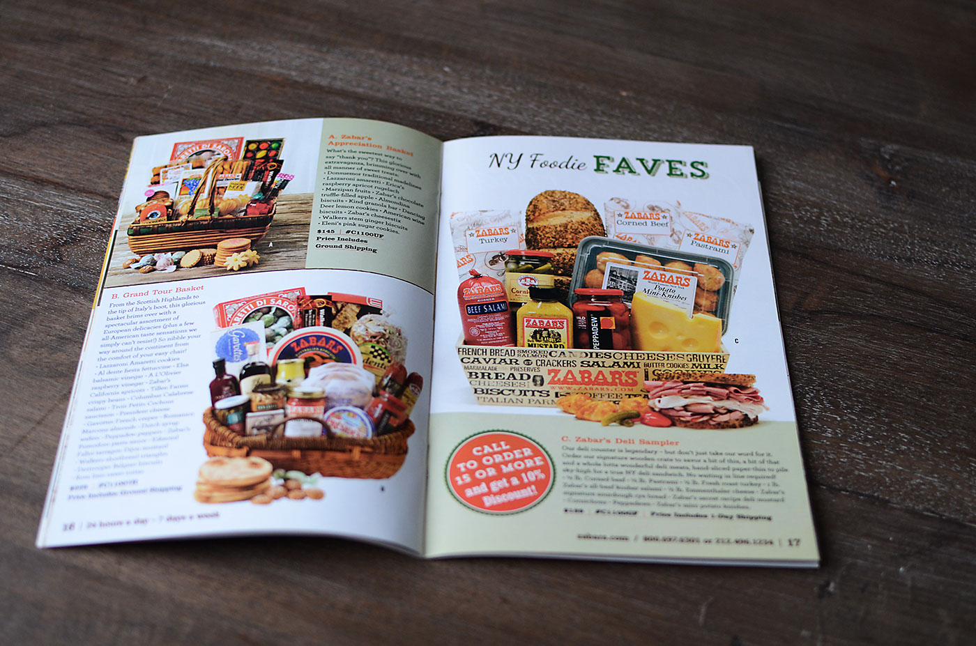 Zabar's Catalog Design spread