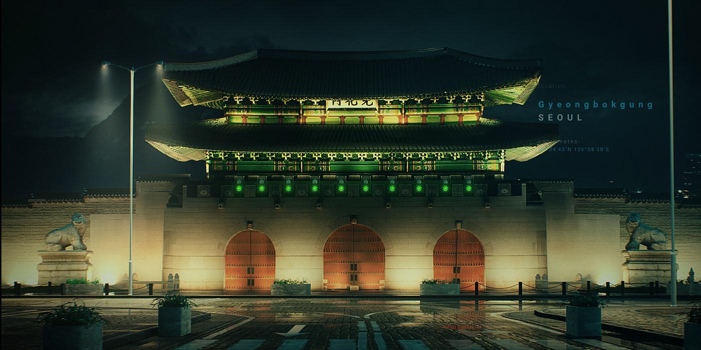 animation  car city design digital formula e jaguar light motion trend